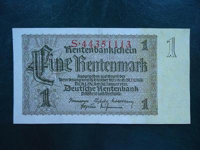 1 Rentenmark 1937 Luxusni Stav