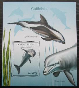 Svatý Tomáš 2014 Delfíni Mi# Block 981 Kat 10€ 2482