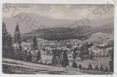 Železná Ruda (Eisenstein), pohled na město - Pohlednice