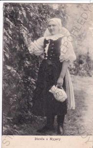 Děvče v kroji z Myjavy, Slovensko