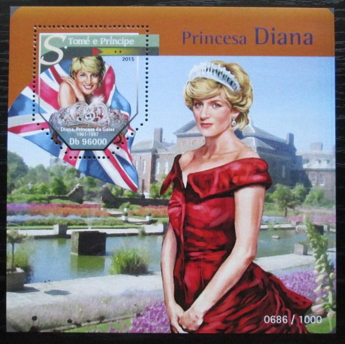 Svatý Tomáš 2015 Princezna Diana Mi# Block 1148 Kat 10€ 2487 - Filatelie