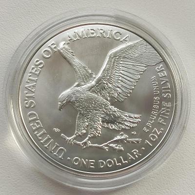 Stříbrná investiční mince American Eagle 1 Oz 2021 New Design
