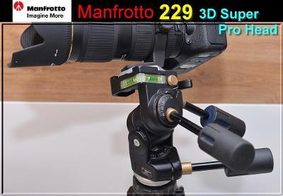 💥 Manfrotto 229 - Fotografická 3cestá hlava **Nosnost: 12 kg**TOP👍