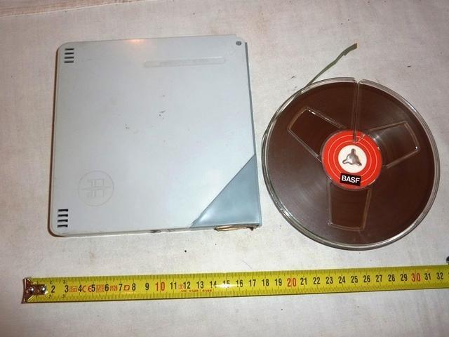 Kotoučový  magnetofon   .. magnetofonový  pásek  BASF   - TV, audio, video