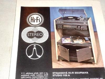 TESLA Hi - Fi   magnetofon , gramofon repro  REKLAMA  80 léta
