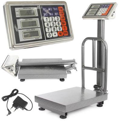 Můstková digitální elektronická váha LCD 150kg 51x71cm M90165