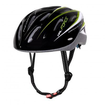 Force HAL černo-zeleno-bílá cyklistická přilba
