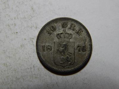 Norsko 10 Öre 1876 R XF č33367