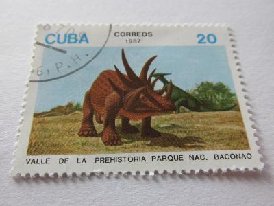 Známky Kuba 1987, Pravěká zvířata, Národní park Baconao