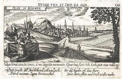 Slaný, Meissner, mědiryt, 1678