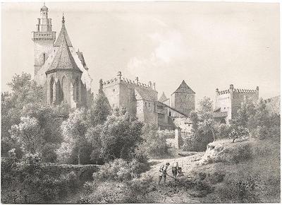 Prachatice, Haun, litografie, 1860