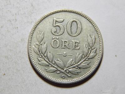Švédsko 50 Öre 1933 G Ag RR XF č33346