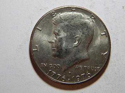 USA ½ Dollar 1976 D pamětní XF č32070