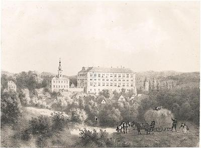 Zákupy, Haun, litografie, 1860