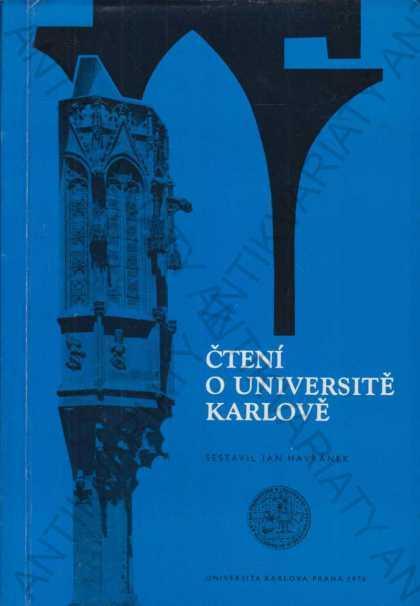 Čtení o Universitě Karlově Jan Havránek UK 1975 - Knihy