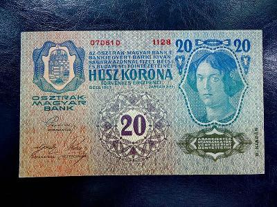 20 kronen 1913 aUNC
