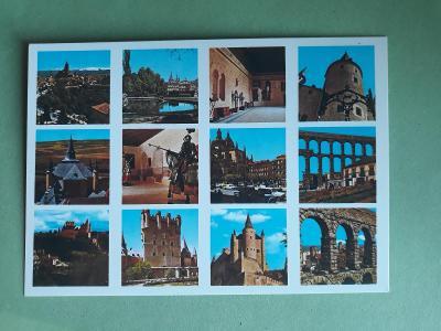 Segovia - Španělsko - pohlednice VF