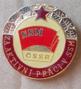 Odznaky SSM  za aktivní práci