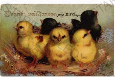 4x Velikonoce zvířata kraslice