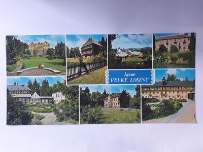 Lázně Velké Losiny (22 x 10,5 cm) - pohlednice VF