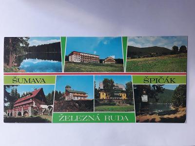 Šumava - Železná Ruda - Špičák  (22,0 x 10,5 cm) - pohlednice VF