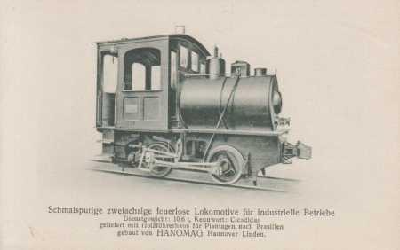 Úzkorozchodná dvounápravová lokomotiva pro průmysl