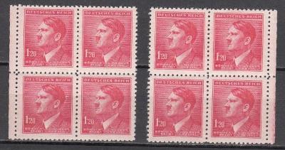 BüM: Hitler 1942, 2x 4blok, neražené **
