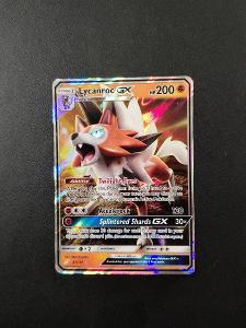 Pokémon karty -Lycanroc GX