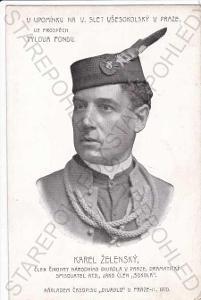Portrét Karla Želenského, člena činohry Národního