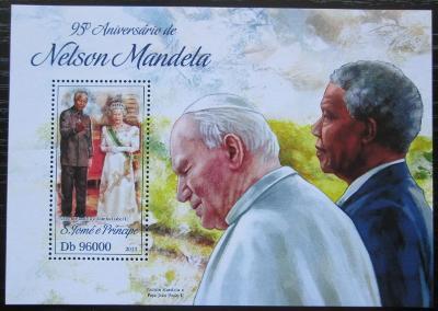 Svatý Tomáš 2013 Nelson Mandela Mi# Block 927 Kat 10€ 2500