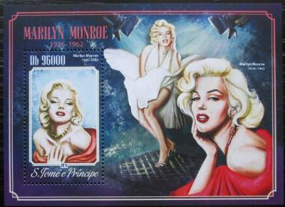 Svatý Tomáš 2014 Marilyn Monroe Mi# Block 1046 Kat 10€ 2501
