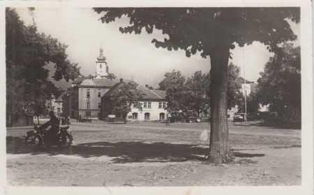 Podbořany- partie- v pozadí kostel
