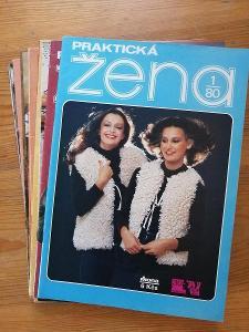 Praktická žena - kompletní ročník 1980 - včetně  střihových  příloh !!