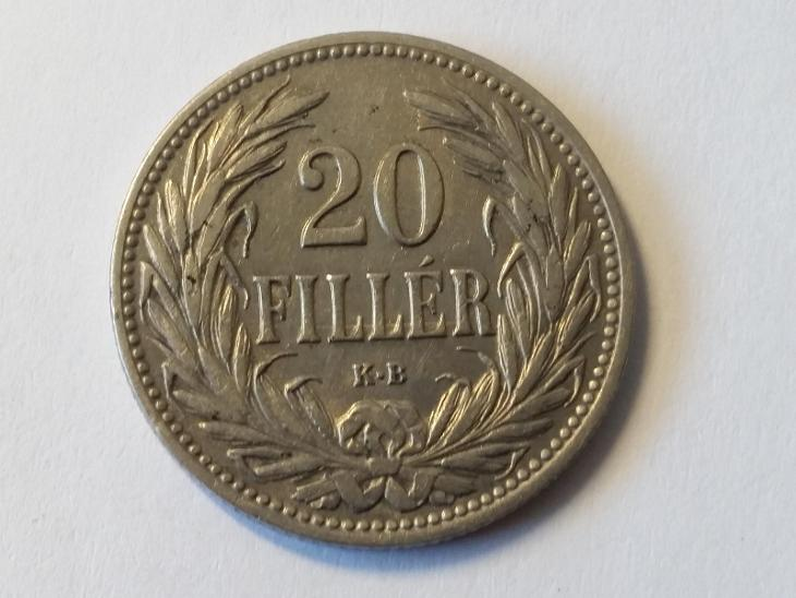 Rakousko-Uhersko FJI - 20 fillér - 1907 KB - Numismatika