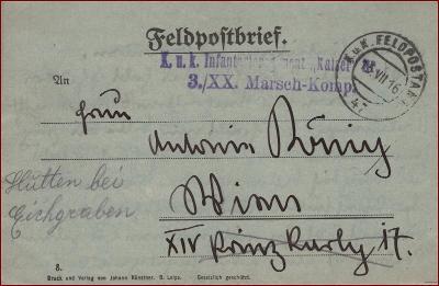 Feldpost nr. 47 * polní pošta, razítko, regiment, skládaný dopis F09
