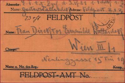 Feldpost nr. 213 * polní pošta, razítko, regiment, skládaný dopis F15