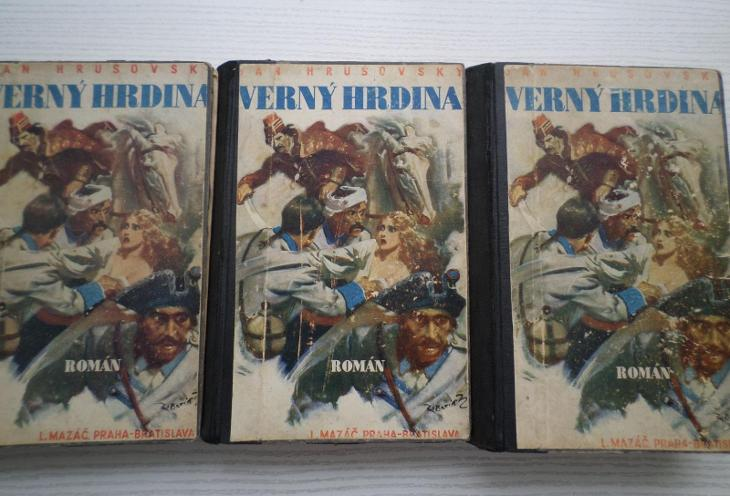VERNÝ HRDINA - 3 díly, ilustrace Zdeněk Burian - slovensky - Knihy
