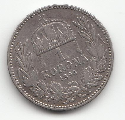"Fr.J.I. 1848-1916, 1 Korona 1894 KB, ""R"",  od 1 Kč - Numismatika"