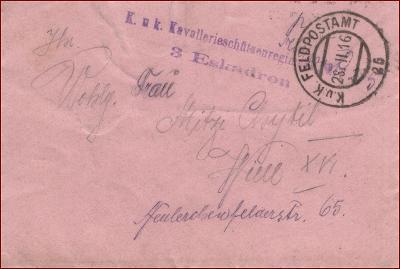 Feldpost nr. 25 * polní pošta, razítko, regiment, obálka F23