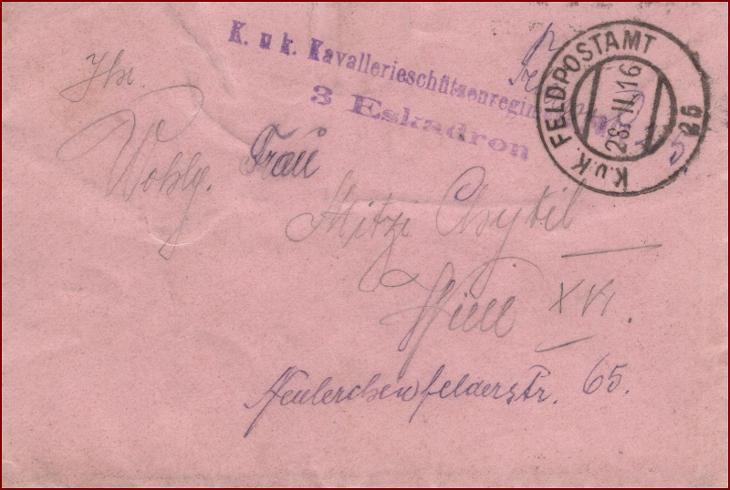 Feldpost nr. 25 * polní pošta, razítko, regiment, obálka F23 - Filatelie