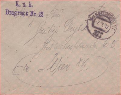 Feldpost nr. 377 * polní pošta, razítko, regiment, obálka F45