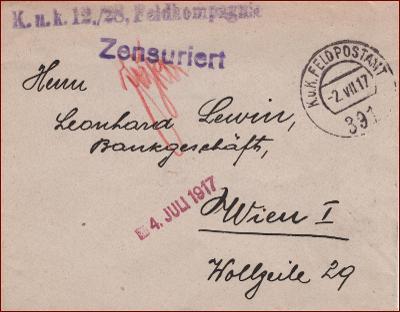 Feldpost nr. 391 * polní pošta, razítko, regiment, obálka F47