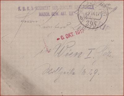 Feldpost nr. 395 * polní pošta, razítko, regiment, obálka F48