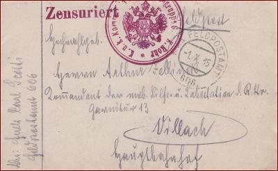 Feldpost nr. 606 * polní pošta, razítko, regiment, obálka F50