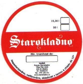 Etiketa Kladno - Starokladenský 001 - Nápojový průmysl