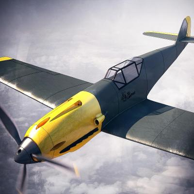 RC Model MESSERSCHMITT BF 109 F - 3D tisk model rozpětí 890mm