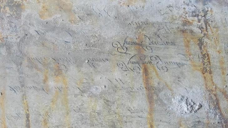 litografický vápencový kámen/ pravděpodobně z Tiskárna Kryl a Scotti - Antikvariát
