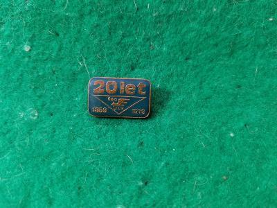 zip saček 13/ odznak -20 let čsd 1959 1979