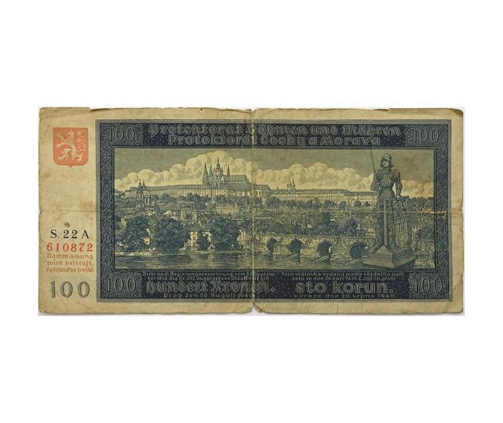 100 K 1940, I. vydání, série 22 A - Bankovky