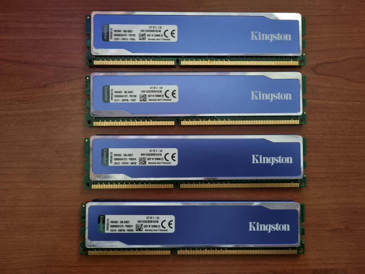 Paměti RAM HyperX blu  4x4GB 1333Mhz DDR3 - PC komponenty